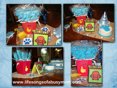 Life Songs Of A Busy Mom: Blue's Clues 1st Birthday Party