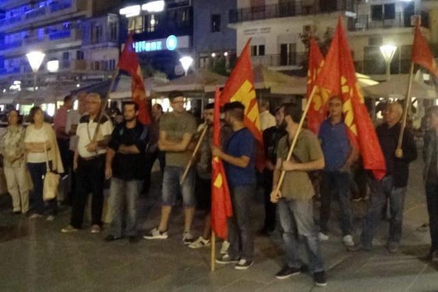 Προεκλογική συγκέντρωση του ΚΚΕ στην Ορεστιάδα