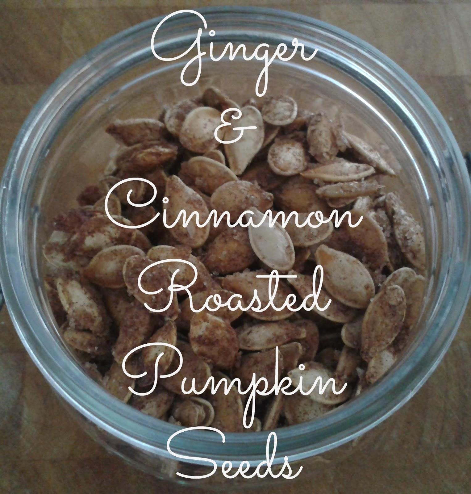 Ginger & Cinnamon Roasted Pumpkin Seeds // 76sunflowers