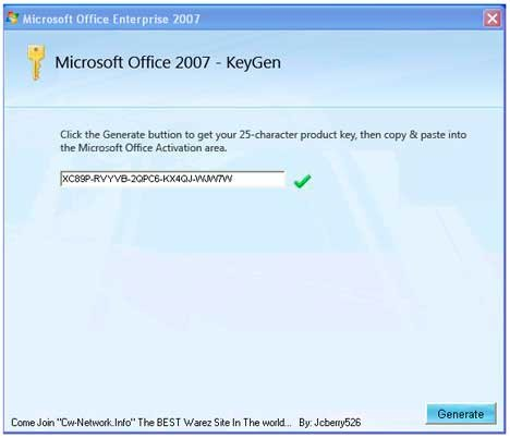 MS OFFICE SERIALS N KEYGENS
