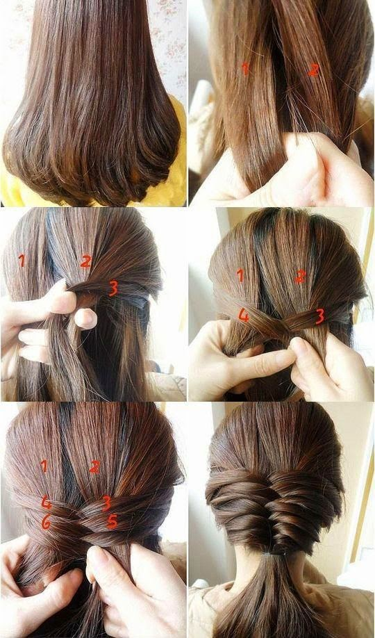 Hairstyles For Short Hair To Do At Home : Easy Hairstyles Instruction For LongMediumShort Hair To Do At Home ...