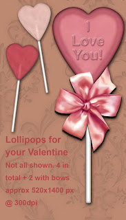 vday lollipops preview Free Valentines Day Lollipop Embellishments