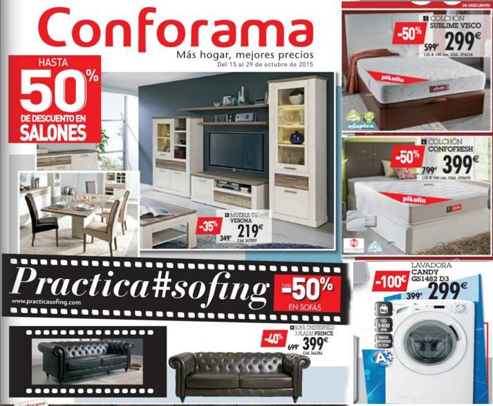 Conforama catalogo de sofas y salones octubre 2015 for Catalogo de salones