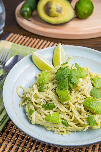 Avocado and Goat Cheese Alfredo