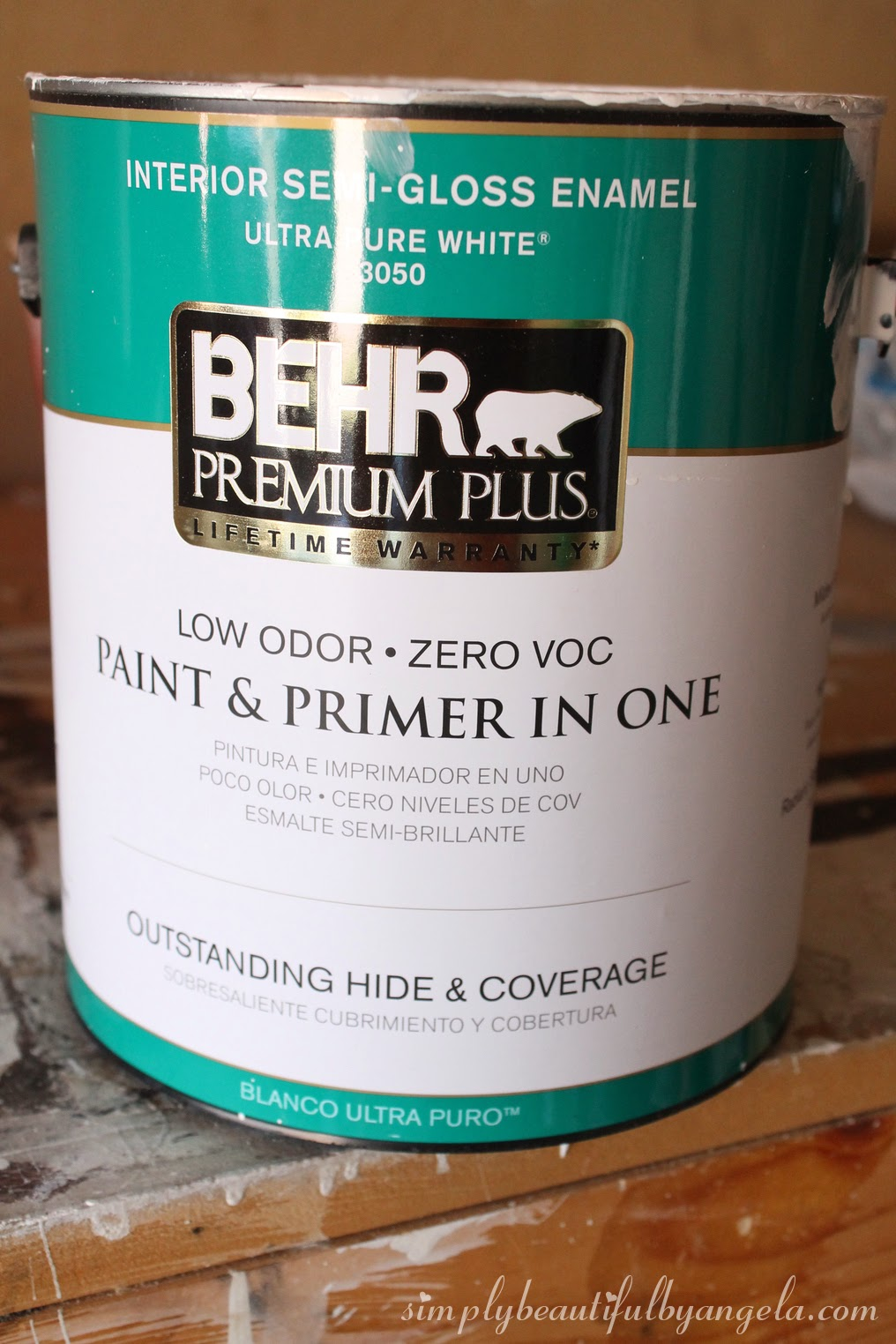 this stuff turned out to be amazing it has awesome coverage and its also super durable it took us forever to decide on a shade of white who knew there - Behr Paint Kitchen Cabinets
