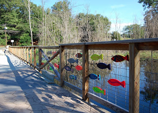 fish painted during the Cultural Festival now hung along the railing