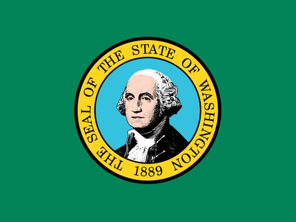 State Flag of Washington, USA - American Images