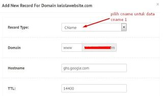 cara custom domain blogger terbaru di niagahoster