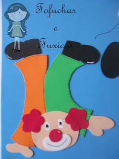 mural dia das crianças e palhaço