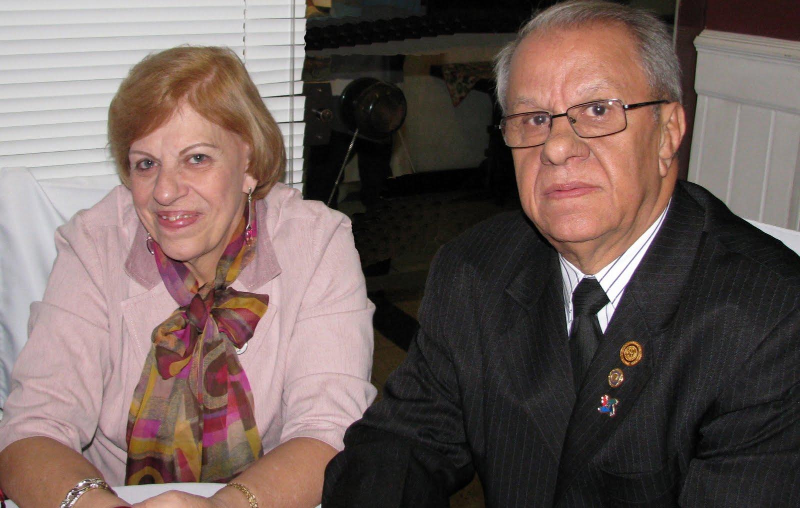 Claudionor Soares, Presidente 2011/2012 e sua esposa Áurea Dalboni Soares