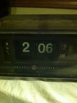 flip number alarm clock