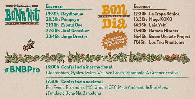 Bona Nit Barcelona 2014, Festival, Concierto
