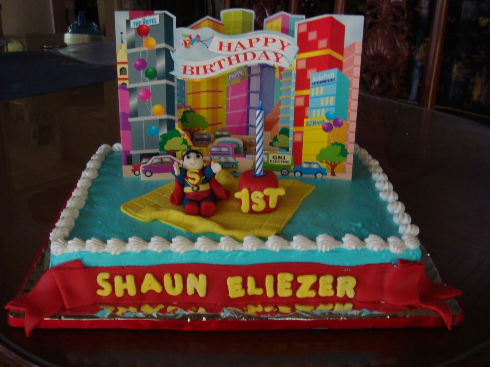 Yencakes Superman Birthday Cake