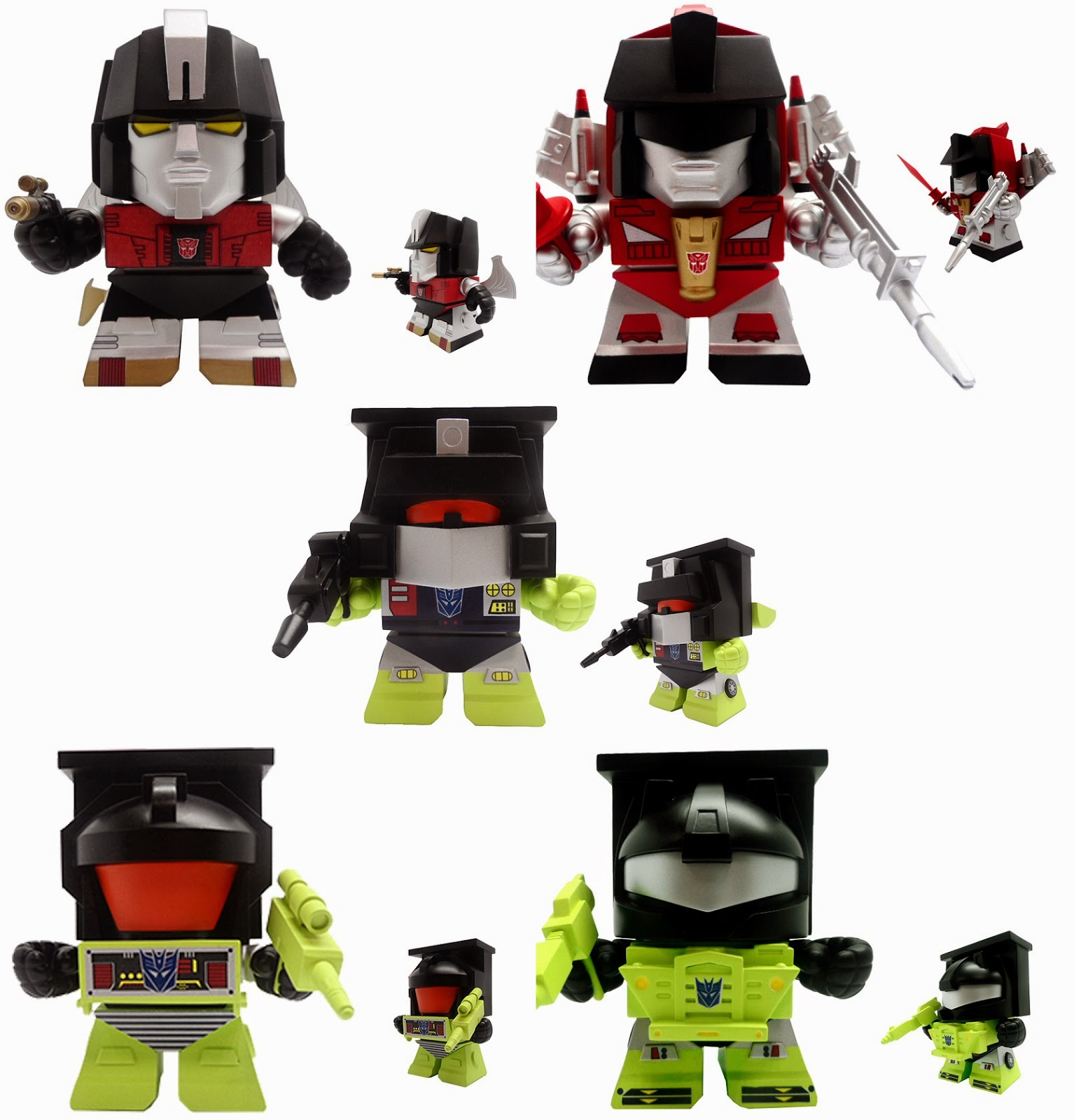 Transformers Mini Figure Series 3 by The Loyal Subjects - Sludge, Swoop, Scrapper, Bonecrusher & Longhaul