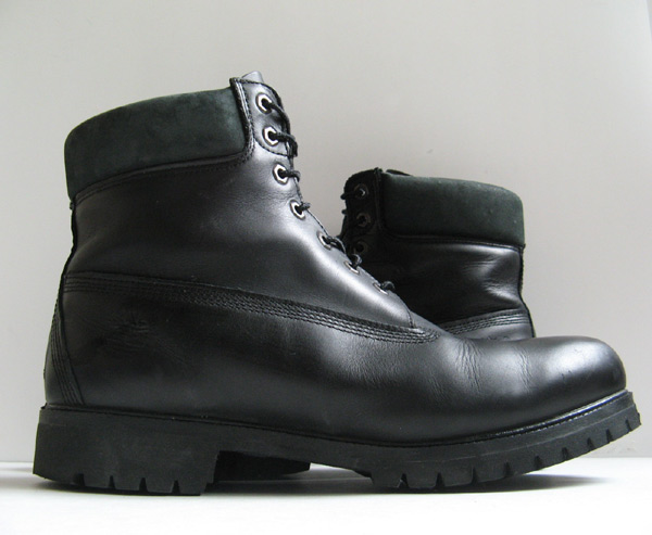 closet timberland black leather work boots mens size 13