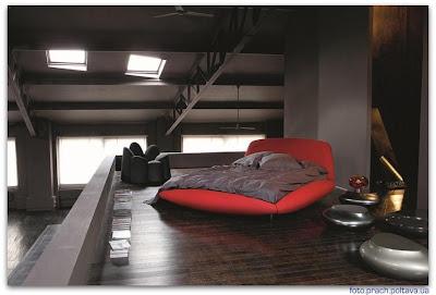 Модель кровати Calisson от фабрики Roche Bobois (дизайн Barilone Maurice)