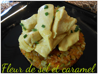 Poulet curry et sa brunoise de légumes