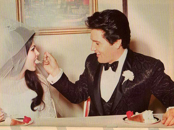 Vintage lovers Priscilla and Elvis Presley