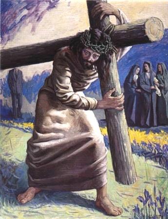 imágenes  de Jesús cargado de cruz