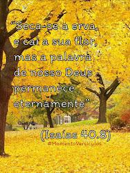 A Palavra de Deus permanece eternamente! Isaías 40:8