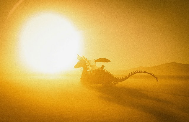 dragon in the desert