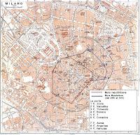 map of the Roman Walls of Milan
