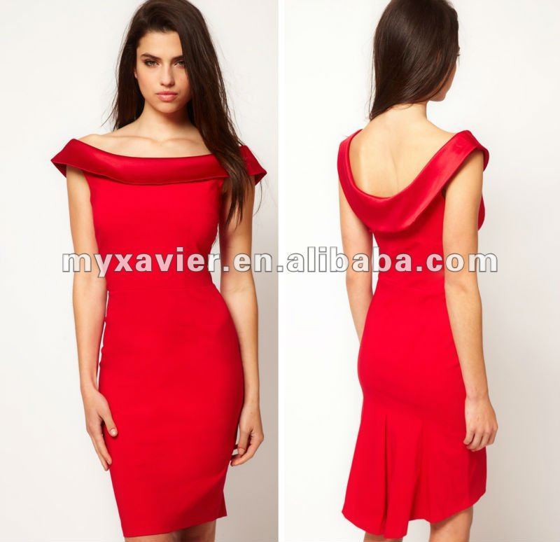 Vestido vermelho curto social