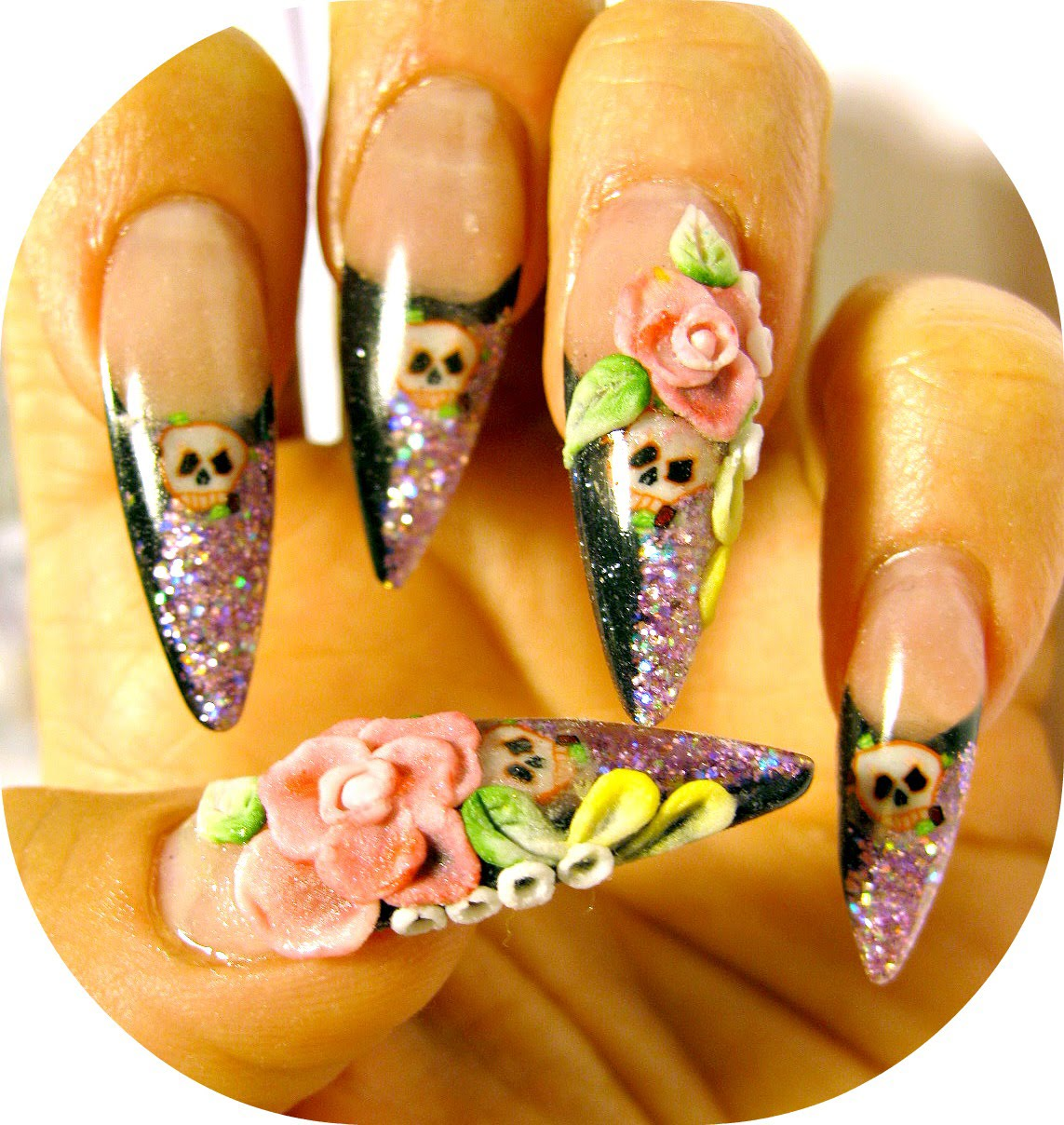 Acrylic Nail Designs Skulls: Best images about badass nails on skull ...