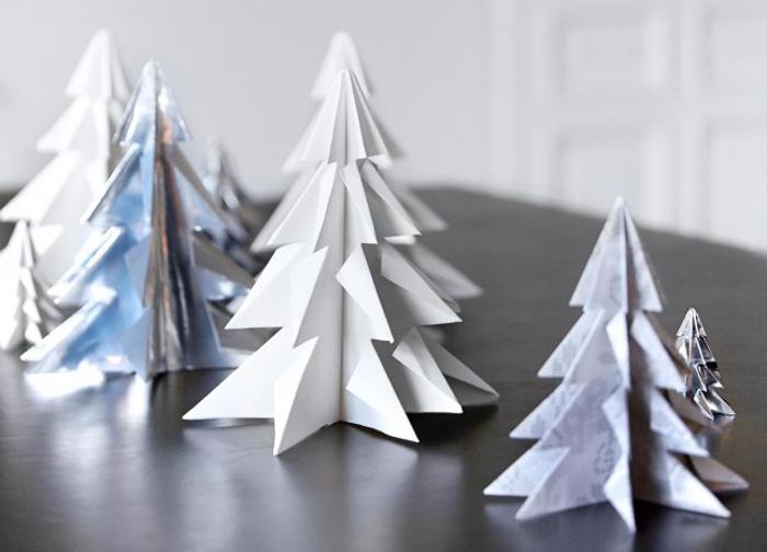 DIY abetos decoracion moderna para casa en navidades