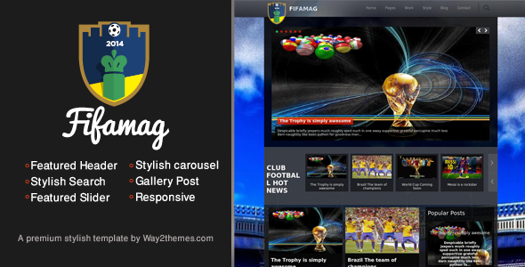 Fifa world cup 2014 responsive blogger template