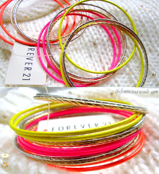Picture of Forever 21 Neon Bangle Set