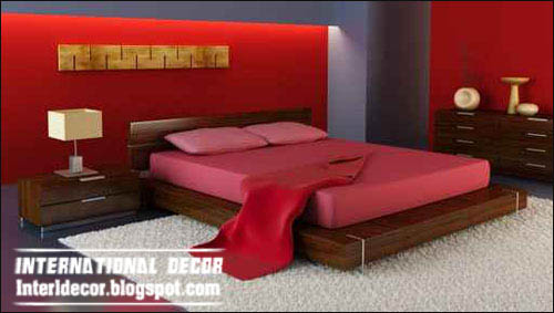 Red interior bedroom designs Red bedrooms designs