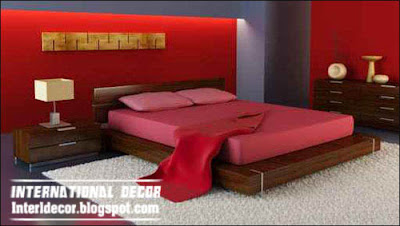 romantic red bedroom interior design, red bedroom paints