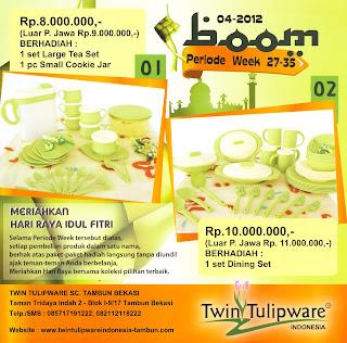 BOOM Tulipware | Juli - Agustus 2012