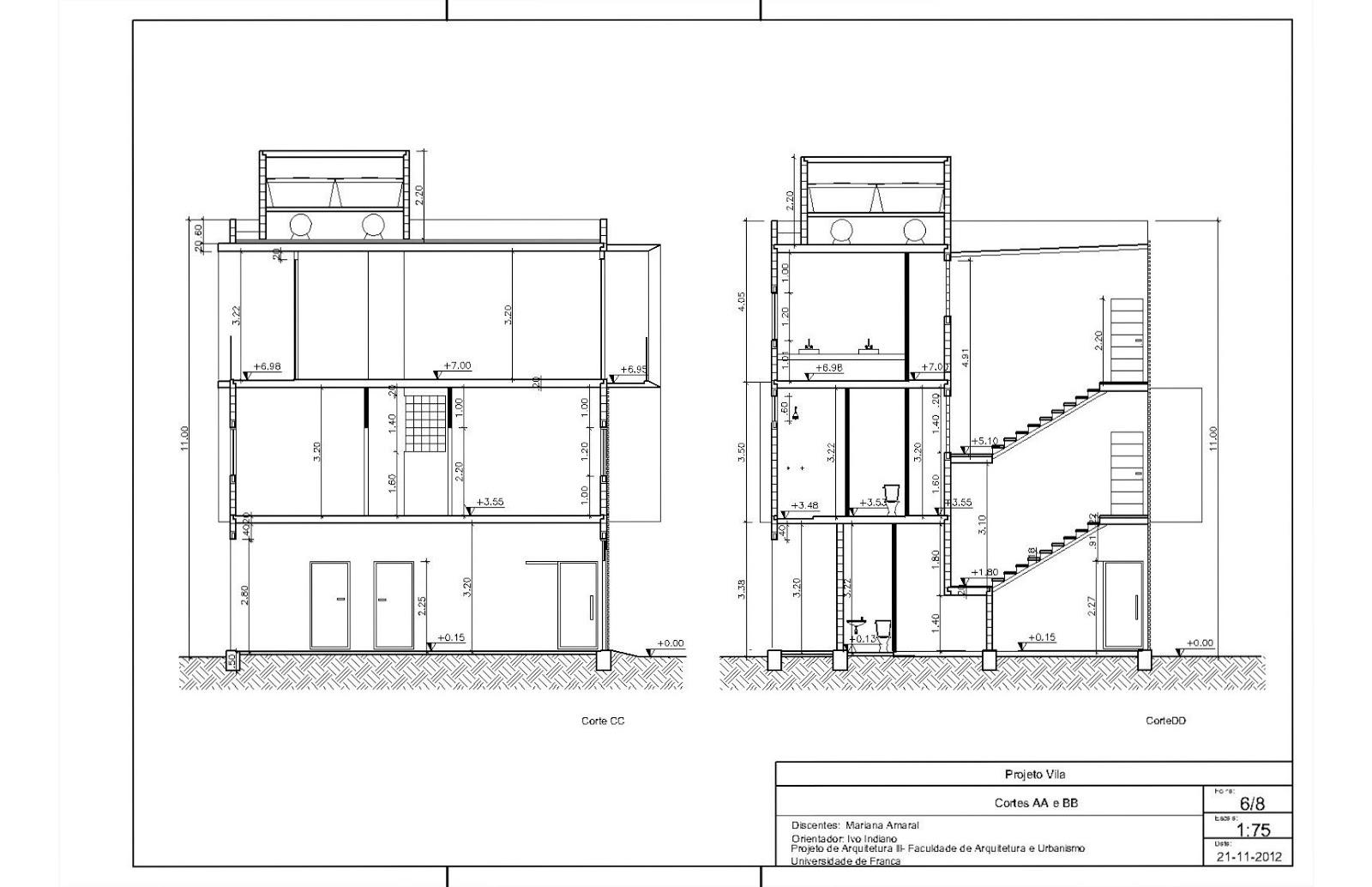 Imagens de #303030 Mariana Amaral Arquitetura: Projeto Final 1600x1034 px 3432 Bloco Cad Banheiro Corte