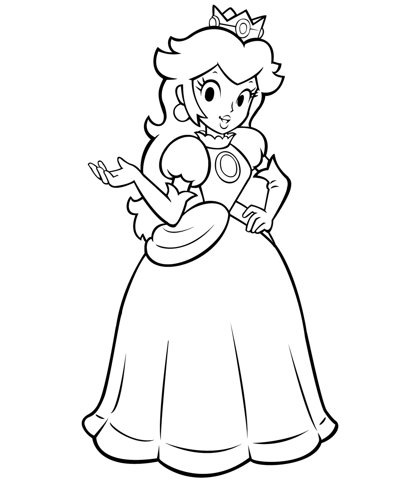 princess toadstool coloring pages - photo#1