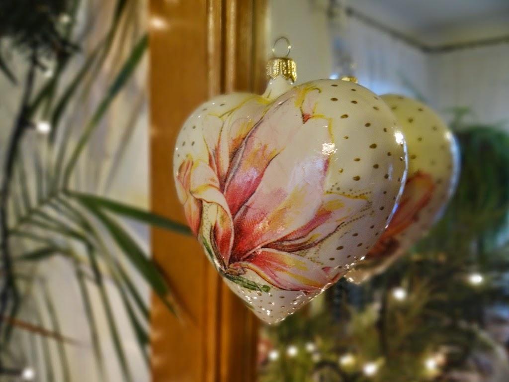 Bombka decoupage, Boże Narodzenie