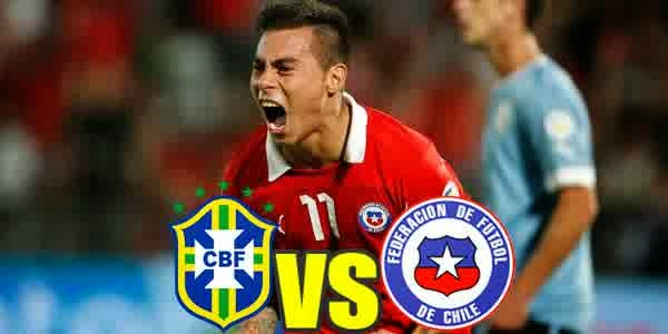 Prediksi Skor Babak Knock-Out Brasil vs Chile World Cup (28/06)