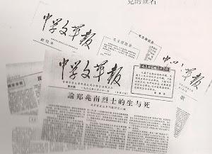 六期《中学文革报》综合图像。