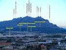 Panoràmica de Montserrat des del camí de la Serra de Les Torretes