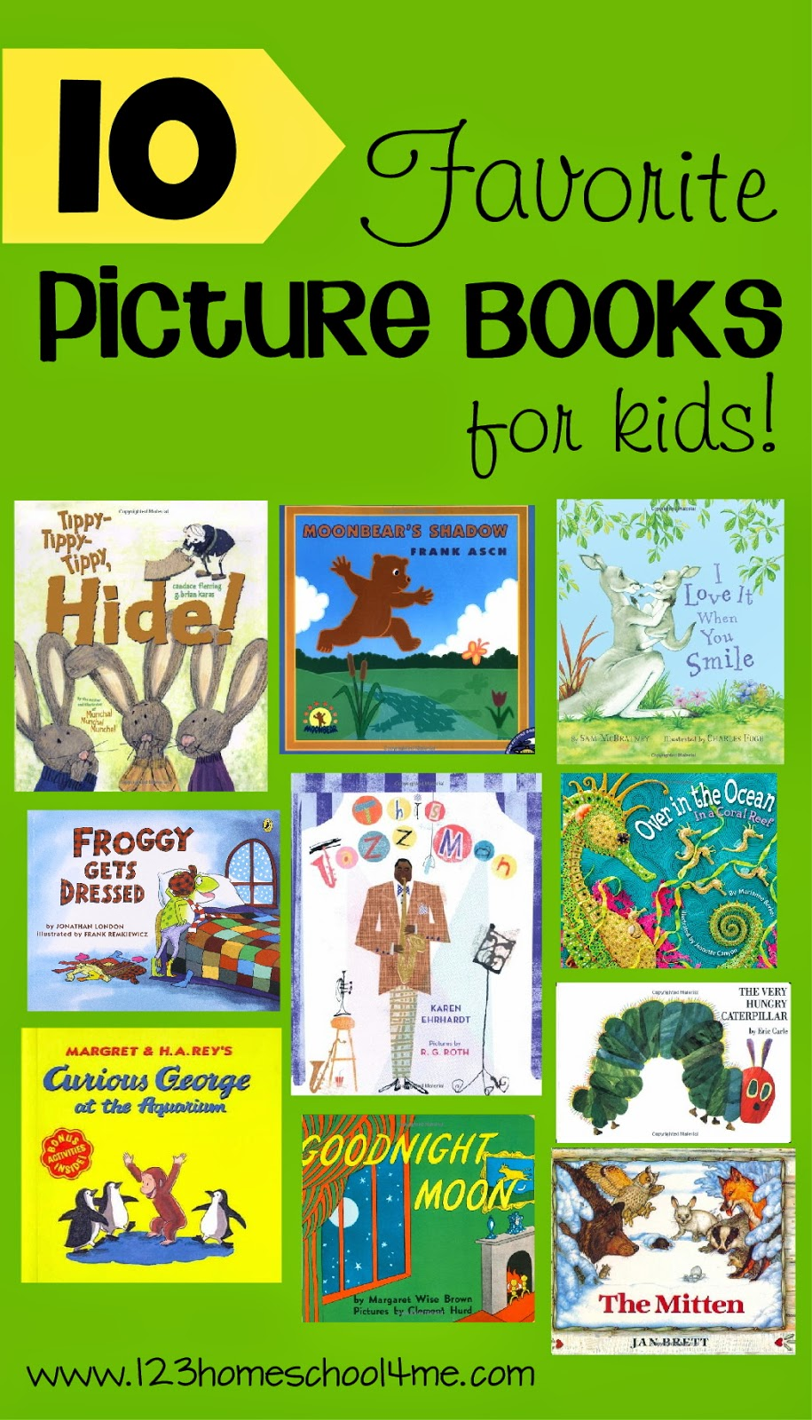 10 Favorite Picture Books for Kids #preschool #kindergarten #bookrecommendations