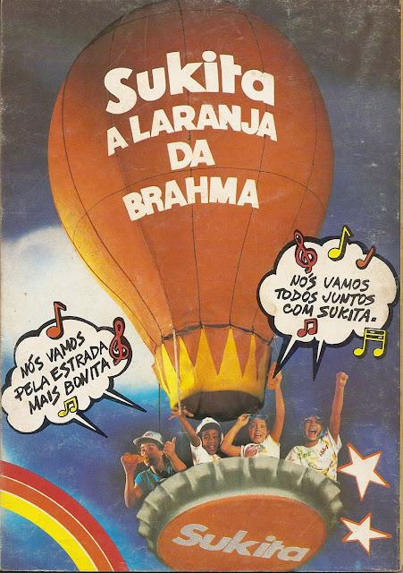 Propaganda do refrigerante Sukita, apresentado em 1986.