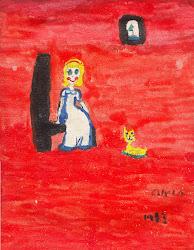 A menina e seu gato