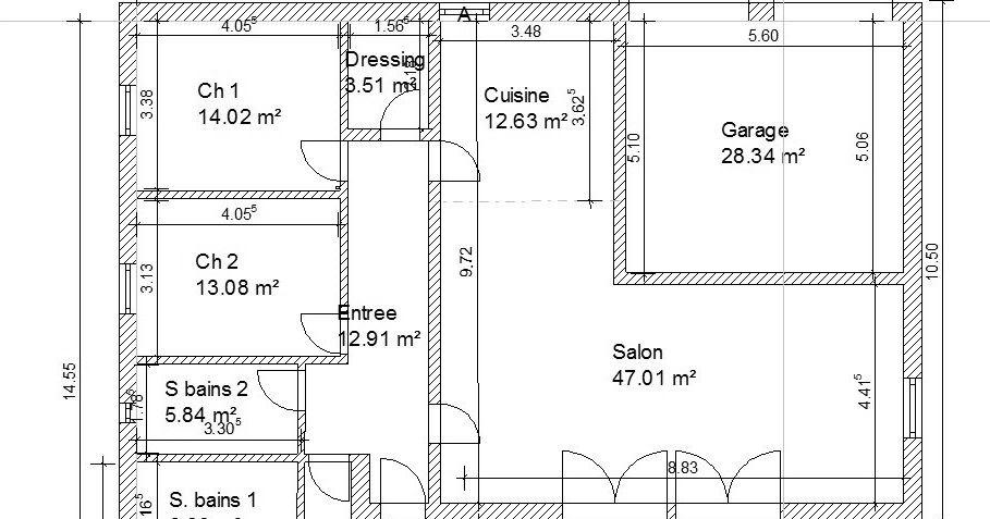Plan Maison M Plein Pied Plan Maison M  Chambres  Plan
