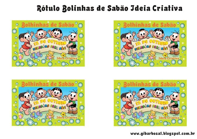 Lembrancinha Dia das Crianças Rótulo Personalizado para Bolhinha de Sabão