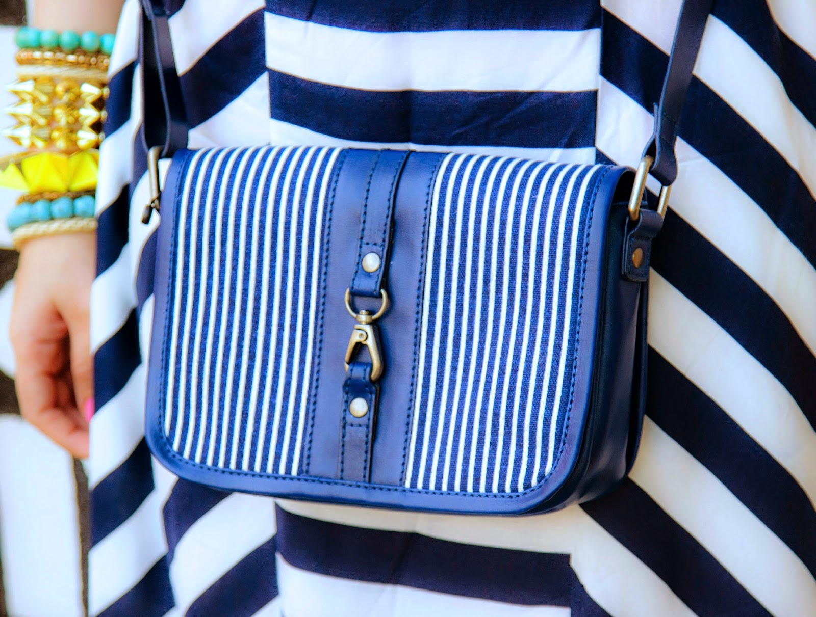 VERO MODA Nautical Stripe Bag