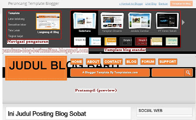 Setting Template Blogger Baru