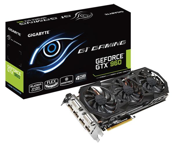 GIGABYTE Luncurkan Dua Kartu Grafis GeForce® GTX 960 dengan Memori 4GB GDDR5