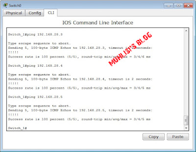 Lakukan Ping Switch ke PC