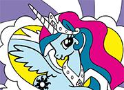 Princesa Celestia Coloring MLP juego